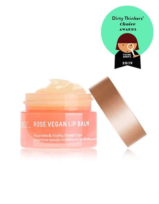 Rose vegan lip balm