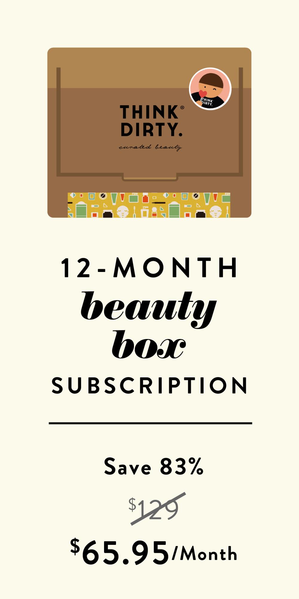 12 month beauty box